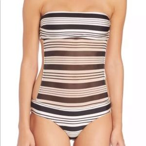 NWT Zimmermann One Piece Swimsuit black and white